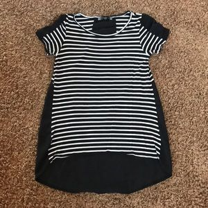 Tops - Maternity high low blouse striped.